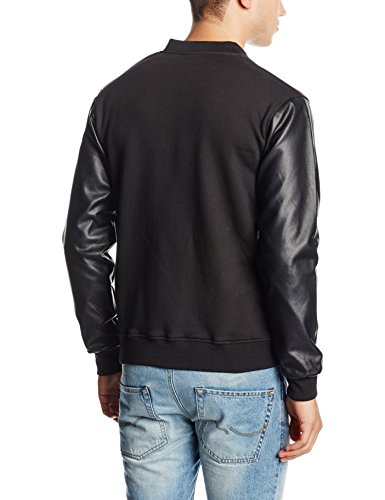 Urban Classics Herren Jacke Zipped Leather Imitation Sleeve Jacket - 2