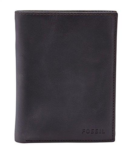 Fossil Geldbörse Grammer International Schwarz ML3690-001 Herren Geldbeutel Leder Portemonnaie Brieftasche