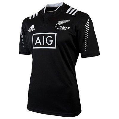 NUOVA ZELANDA 7 2015/16 Jersey Rugby Uomo, Nero, (Nuova Zelanda Rugby Shirts)