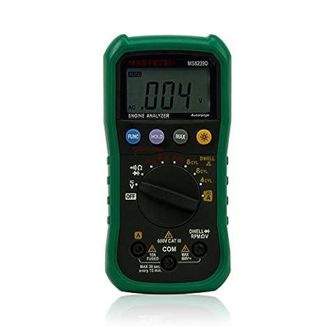 Mastech MS8239D Multimètre numérique automobile Analyseur de moteur Test de vitesse