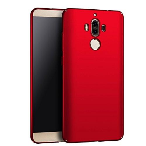 Apanphy Huawei Mate 9 Hülle , Hohe Qualität Ultra Slim Harte Seidig Und Shell Volle Schutz Hinten Haut Fühlen Schutzhülle für Huawei Mate 9, Rot