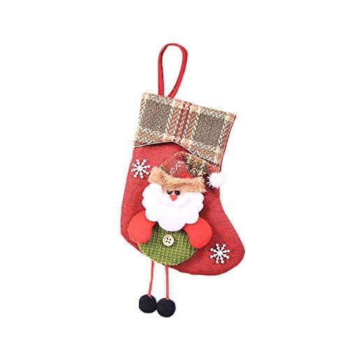 strumpf Geschenkbeutel Weihnachten Strumpf Beutel Mini Socke Weihnachtsmann Candy Geschenk Tasche Weihnachtsbaum hängende Dekor (Colour A) ()