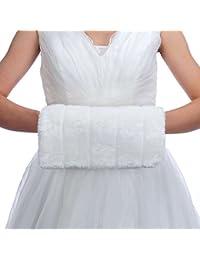 Topwedding Ivoire en fausse fourrure chaud gants de mariage