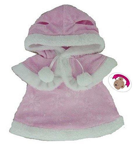 construya-su-bears-armario-15-inch-ropa-fit-construir-un-oso-vestido-y-capa-color-rosa