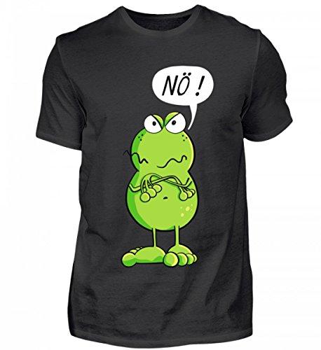 Cooles Nö Frosch Comic Design I Frösche Cartoon I Fun Art Damen Herren Jungen Mädchen - Herren Shirt (T-shirt Frosch-design-schwarz)