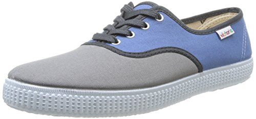 Victoria Inglesa Lona, Sneaker Unisex-Adulto Grigio (Grau - grau)