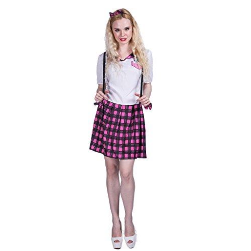 hen Kostüm Set School Girl Mini Kleid Uniform (School Girl Kostüm Für Erwachsene)