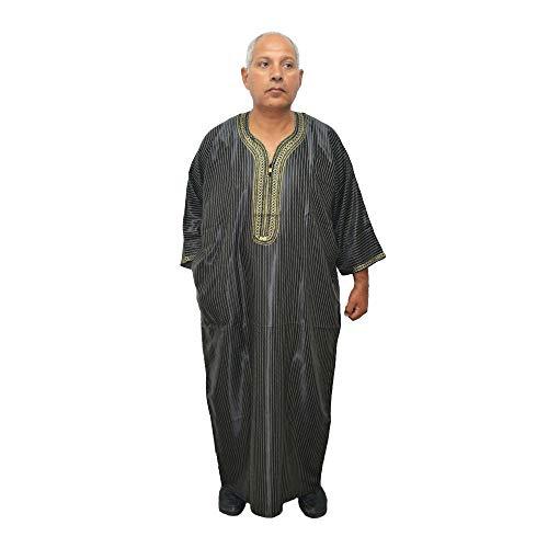 Elegante chilaba Unisex Modelo árabe, Marruecos, Egipto, etc. de satén y algodón, Mide de Ancho de sisa 75 cm y Largo 150 cm Aproximadamente