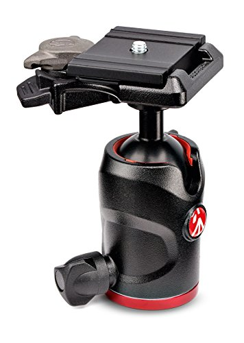 Manfrotto MH494-BH 1/4 Ball Black tripod head - Tripod Heads (220 g, 4 cm, Aluminium, Black)