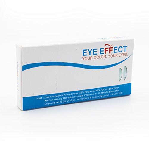Eye Effect farbige Kontaktlinsen in vielen Farben für schöne natürlich Augen + gratis Kontaktlinsenbehälter (Blau Aqua) - 8