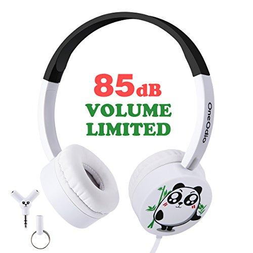 Für Kinder Ohrhörer Ipod (Kinder Kopfhörer Süßer Panda Ohrhörer mit Laustärkebegrenzung Verstellbares Kindgerechtes Headset für iPod iPad iPhone Smartphones Android Handy Tablet PC MP3 MP4 Player)
