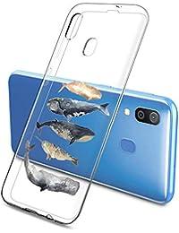 Suhctup Case Compatible con Samsung Galaxy A91/M80S Funda Transparente Suave Silicona TPU Bumper Cárcasa Dibujos Animales Diseño Ultra Delgada Antigolpes de Protector Piel Cover,5 Peces