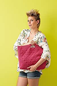 Tasche selber häkeln! Häkelset Sommertasche mit Baumwolle und Häkelanleitung - Häkelpaket mit Schachenmayr inspiration Heft - Häkelpackung zum Tasche selbst häkeln von MyOma