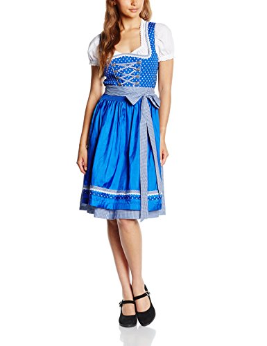 Edel Herz Damen Dirndl Wige499 Mehrfarbig (blau 873)