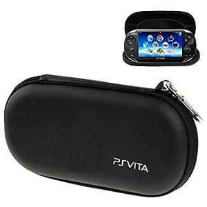 LUPO tragbare Fest Shell Tasche mit Stoßdämpfung für PS Vita / PSP, Größe: 195 x 100 x 32mm – SCHWARZ