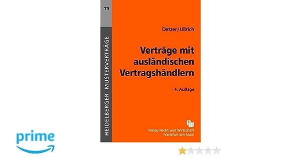 Verträge Mit Ausländischen Vertragshändlern Heidelberger