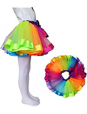 belababy Tutu aus Tüll in Regenbogenfarben für Mädchen (0-8 Jahre), mit Leggings