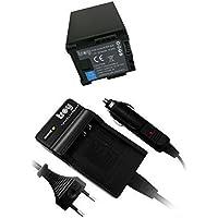 Batterie + Chargeur pour BP828, BP-828 adaptéà Canon LEGRIA XA20 XA25 LEGRIA HF G30 G10 G20 G25 M30 M31 M32 M40 M41 M300 M301 M400 S10 S11 S1400