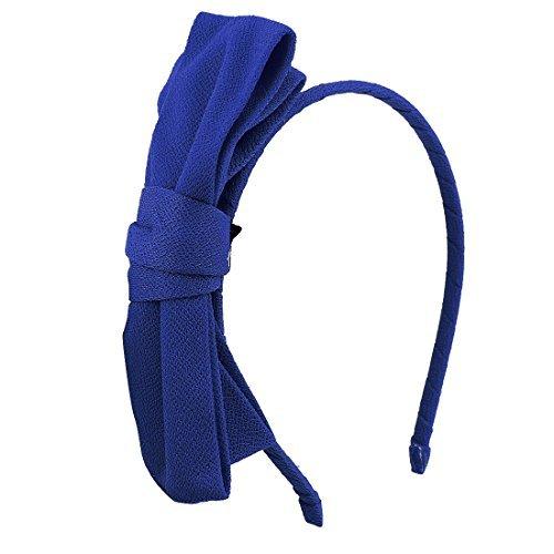 Double-Layer-Bowtie Detaillierung Haarreif Kopf Ban Haar-Band Royal Blue - Royal Blue Bowties