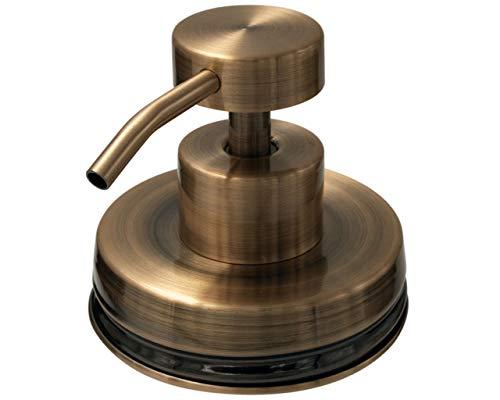 Mason Jar Lifestyle Vintage Kupfer Seifenspender Deckel Kit für Normale Mundgläser (kein Glas) Lid Kit Only Oil Rubbed Bronze (Deckel Lotion Dispenser Jar Mason)