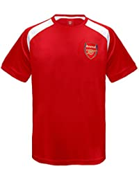 ebd6001128c Arsenal FC Official Football Gift Boys Poly Training Kit T-Shirt