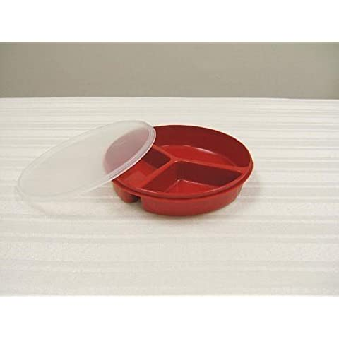 Maddak Inc. (a) Scoop Dish Partitioned W/Lid Redware by Maddak