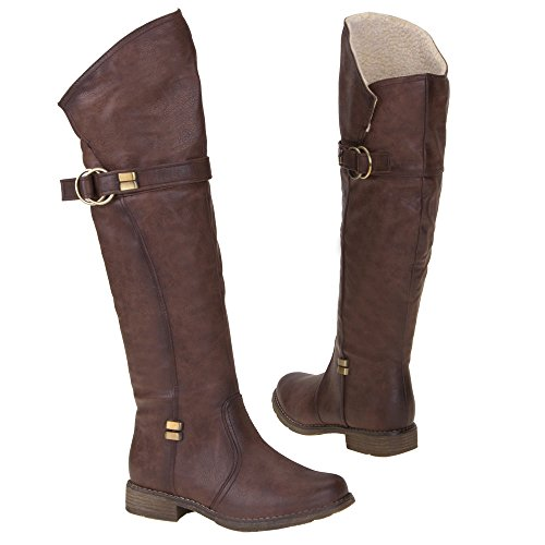 Damen Schuhe, JA3017, STIEFEL Dunkelbraun