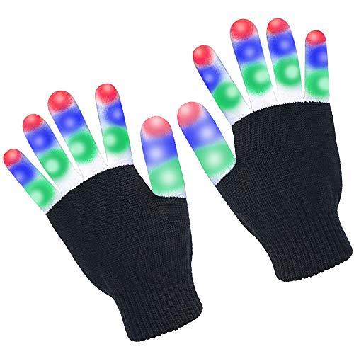 uhe mit Lichtern für Geburtstagslicht, Party, Weihnachten, Tanz, Halloween, Clubbing, Geburtstag, Party Flashing LED Warm Gloves ()