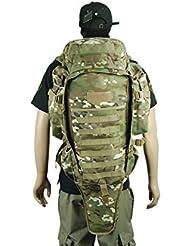 Táctica Militar Caza Molle Dual Rifle Mochila Funda de funda para pistola de doble acolchada MC
