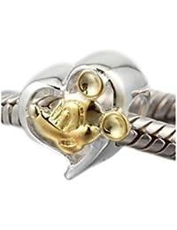 """'Andante de Stones 925plata de ley oro Bead """"Mickey Mouse Element bola para European Beads + Traumhandel"""