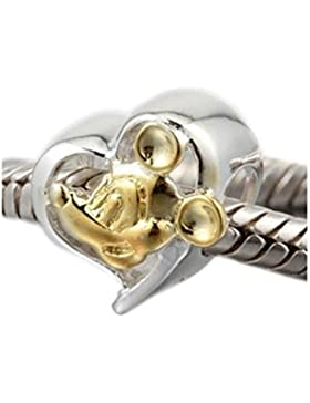 Andante-Stones 925 Sterling Silber Gold Bead