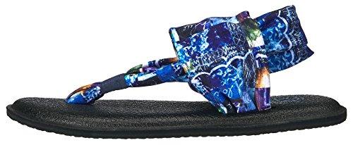 Sanuk Sandals - Sanuk Yoga Sling 2 Metallic San... Blue Love