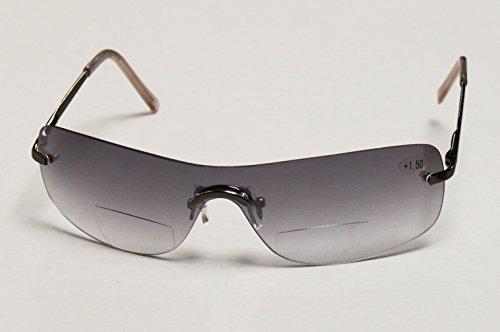 argus Bifokale Sonnenbrille, Sonnenbrille mit Leseteil +1,5 +2,0 +2,5 dpt (+2,0 dpt. gun)