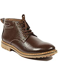 ICEBULL LEATHER Ice Bull Leather Shoes(Boots) With Brown Color- For Men's (JEC026) With Size(6-10)