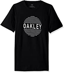 Oakley Mens Faded Circle T-Shirt, Blackout, Small