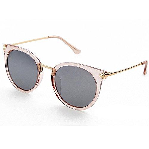 Ljleey Lady Sonnenbrille Vintage Edge Style Damen polarisierten Sonnenbrillen Full Frame UV-Schutz Outdoor Sonnenbrillen Fahren Urlaub Bergsteigen Wandern Resort am Meer (Farbe : Rosa)