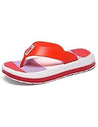 XHCHE Frauen Pantoffeln Weiche Atmungsaktive Mesh Strandschuhe Frau Dias Damen Casual Schuhe  38 EURot