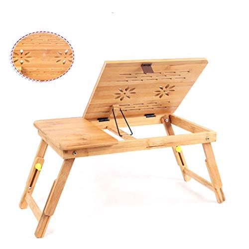 Duzhengzhou Laptop Schreibtisch Tabelle einstellbar 100% Bambus Faltbare Frühstück servieren Bett Tablett W 'tilt Top Schublade -