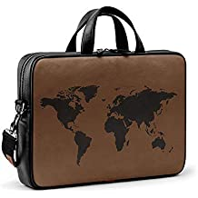 DailyObjects Wrinkled World Map City Compact Messenger Bag for Up to 15.5 Inch Laptop/MacBook Color-Multicolor