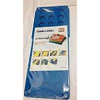 Clothes Laundry Folder Flip Speed Magic Shirts Folding Board - Blue