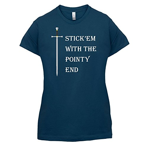 Stick'em With The Pointy End - Damen T-Shirt - 14 Farben Navy