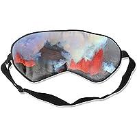 Earth Volcanoes Island Eruption Lava Smoke Augenmaske, Augenschutz für Reisen, Nickerchen, Meditation preisvergleich bei billige-tabletten.eu