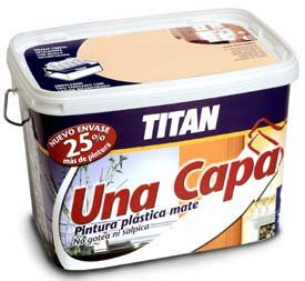 Titan 69638205 - Pintura plástica mate GRIS SUAVE Titan UNA CAPA