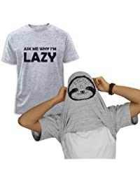 ask me why I'm Lazy Sloth Flipover T-Shirt