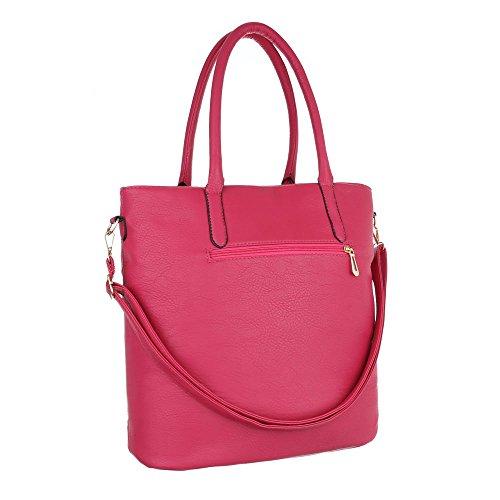 Ital-Design, Borsa a spalla donna Pink