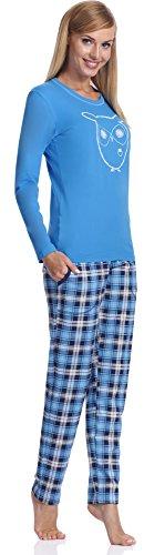 Italian Fashion IF Pigiama per Donna Aurelia 0223 Blu