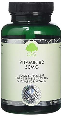 G&G Vitamins 50 mg Vitamin B2 Riboflavin Capsules