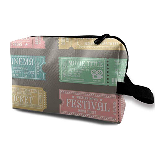 Ticket For Event Movie Access Portable Travel Storage Pouch Make Up Bag Toiletry Bag Organizer Travel Accessories ()