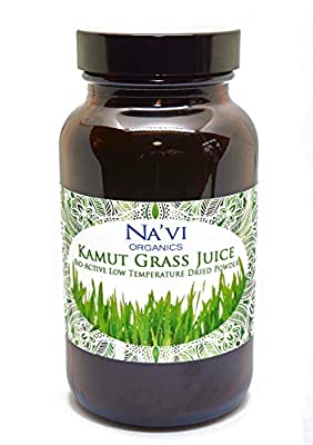 Na'vi Organics Organic Raw Kamut (Wheat) Grass JUICE Powder - Premium Grade & Organic Certified (100 grams)