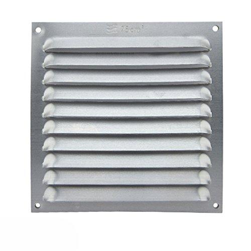 Grille plat avec ventilation 200 x 200 mm aluminium extra